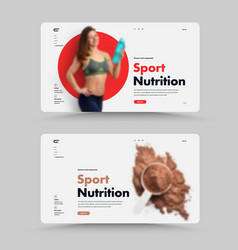 set uiux website design homepage for sports vector image