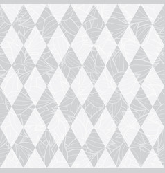 Silver grey geometric diamonds abstract vector