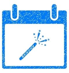 Sparkler firecracker calendar day grainy texture vector
