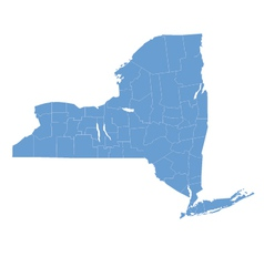 State map of New york by counties vector image