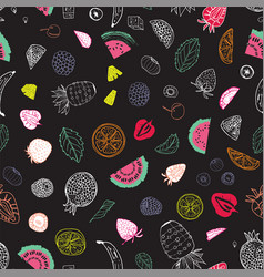 summer fruit seamless pattern print design on vector image