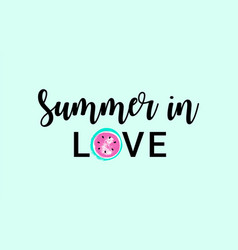 summer in love watermelon greeting card lovely vector image