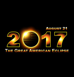Total solar eclipse traveling across united vector