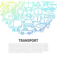 Transport line concept vector