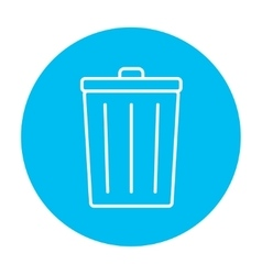 Trash can line icon vector image vector image