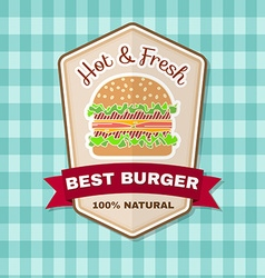 Vintage fast food badge banner or logo emblem vector image