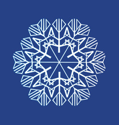 white whistling snowflakes vector image