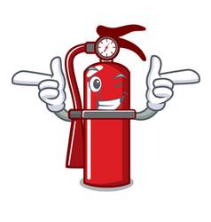 Wink fire extinguisher character cartoon vector