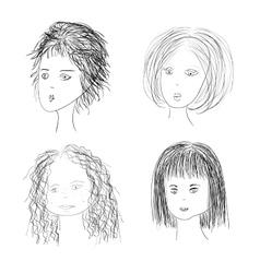women vector image
