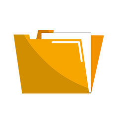 yellow documents file folder icon vector image