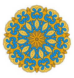 color mandala ethnic pattern round symmetrical vector image vector image