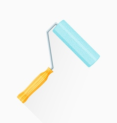 flat paint roller icon vector image