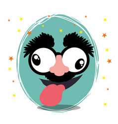 funny face fools day design vector image
