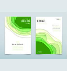 modern design of business brochure vector image vector image