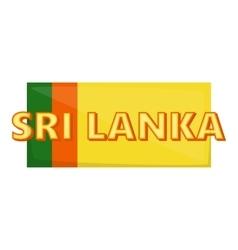 Sri lanka icon cartoon style vector