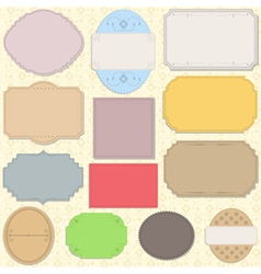 vintage paper objects vector image vector image
