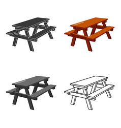 Bench icon of for web and vector
