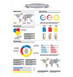 Detail info graphic with statistic data vector image