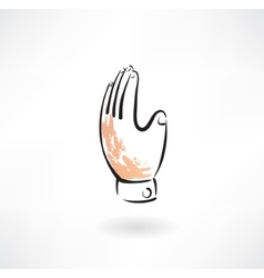 hand grunge icon vector image vector image