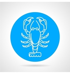 Lobster blue round icon vector image