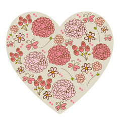 silhouette vintage heart with colorful pattern of vector image vector image