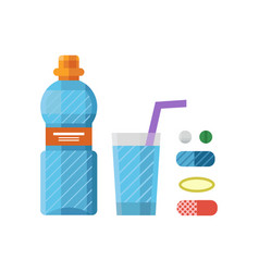 water plastic sport bottle transparent mineral vector image