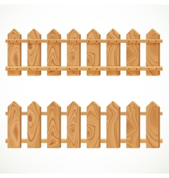 Wooden fence from short planking vector image vector image