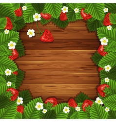 Background with ripe strawberry vector image vector image