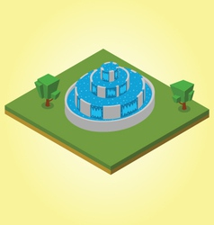 Isometric fountain vector image vector image