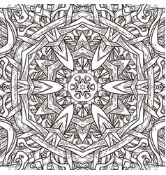 Seamless pattern in mandala style vector