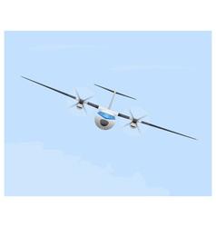 Turboprop airplane in flight vector
