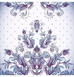 Vintage background baroque pattern vector image vector image