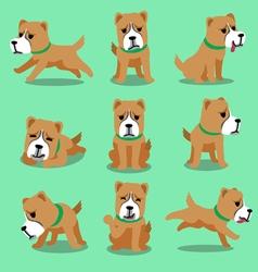 Cartoon character alabai dog poses vector image