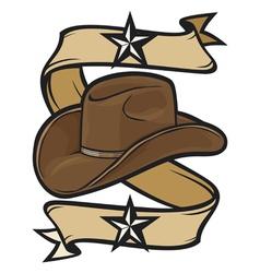 cowboy hat design vector image vector image