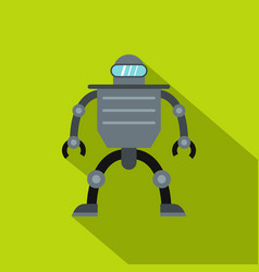 Cyborg robot icon flat style vector
