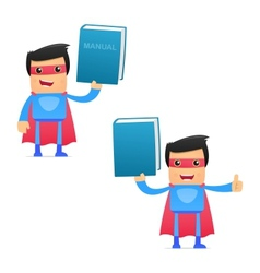 superhero carrying manual vector image