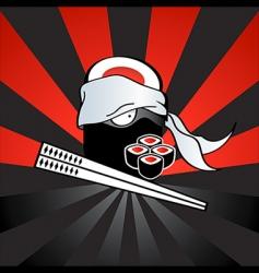 sushi ninja vector image vector image