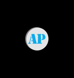 A p letter logo icon designa p letter design vector