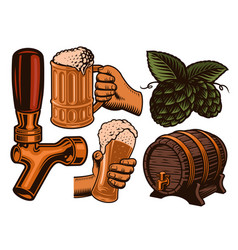 a set colorful for beer theme vector image
