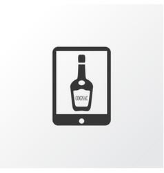 alcohol icons set with elite cognac element vector image