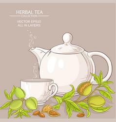 almond tea vector image