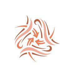 arrow icon design symbol vector image
