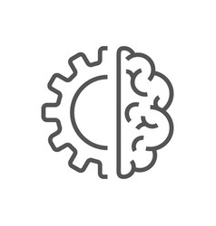 artificial intelligence brain icon - ai vector image