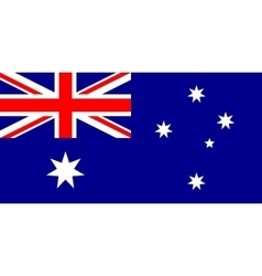Australian flag in correct proportions and colors vector image