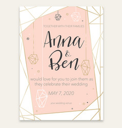 beautiful romantic invitation card vector image