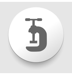 Black white vice symbol vector