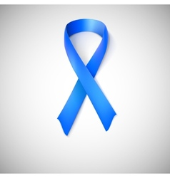 Blue ribbon loop vector image