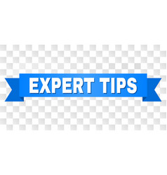 blue tape with expert tips title vector image