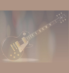 Blues guitar faded background vector