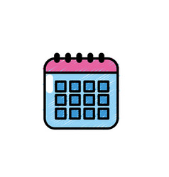 Calendar data to organizer important things vector